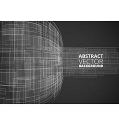 Black Futuristic Wire vector image vector image
