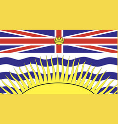 British columbia flag vector