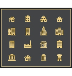 Buildings Icons vector image