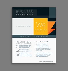 Business template brochure for company vector
