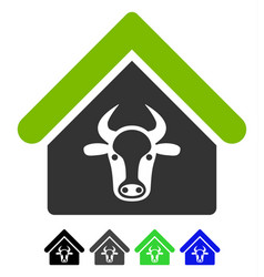 Cattle farm flat icon vector