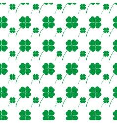 Cloverleaf happy green leaf seamless background vector