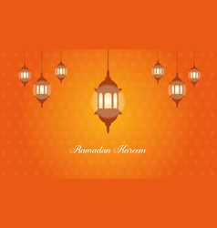 Collection stock of ramadan kareem with latern vector