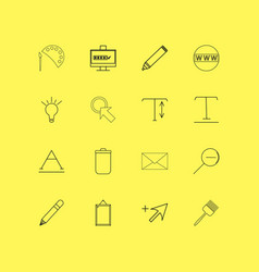 Design elements linear icon set simple outline vector