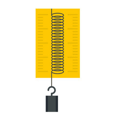 Dynamometer with weights icon isolated vector