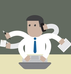 Employee businessman manything to do vector image vector image