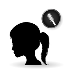 Hair salon design Hairdressing icon vector image