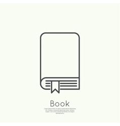 Icon of an book vector