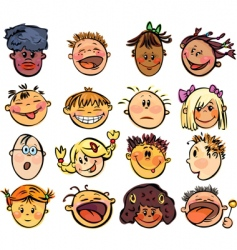Kids face vector
