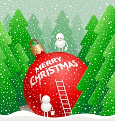 little cute snowman vector image vector image