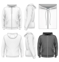 Mens zip hoodie design template vector