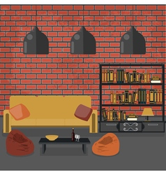 Modern Interior Living Room in Grunge Style vector image vector image
