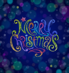 Multicolored Christmas greeting sign vector image vector image
