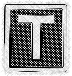 Polka Dot Font LETTER T vector image vector image