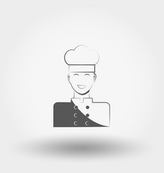 professional chef icon flat vector image