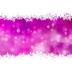 purple snowflakes background vector image vector image