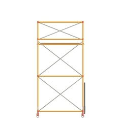 Scaffolding Isolated On White vector image vector image