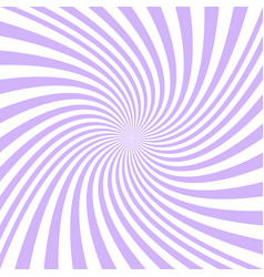 Spiral background from purple and white rays vector
