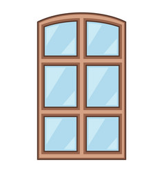 wood window frame icon cartoon style vector image