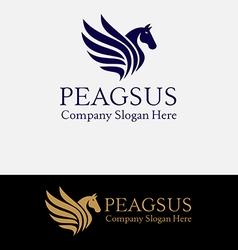 Pegasus Horse Logo Abstract vector image