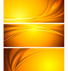 Abstract sunny banners vector image