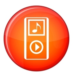 Mini mp3 portable player icon flat style vector