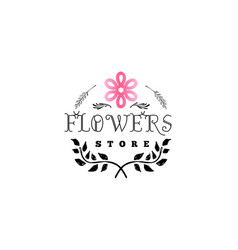 Badge for small businesses - flower shop counter vector