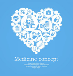 Medical heart concept blue vector