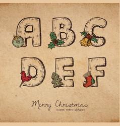 christmas abc vector image