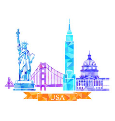 Attractions of the united states in polygonal vector