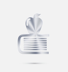 Books tower with apple icon vector