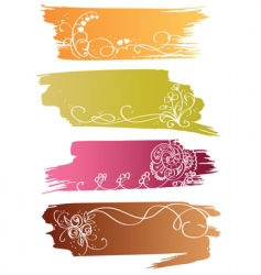 floral banners with flower and heart vector image