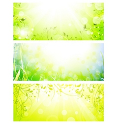 Green fresh banners vector