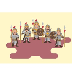 Ancient chinese soldier flat graphic vector