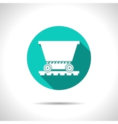 Vetor color flat trolley icon epsflat0 vector