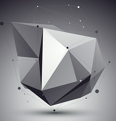 Digital 3d abstraction lattice geometric polygonal vector