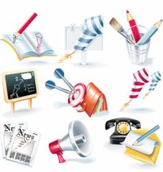 advertising campaign icon set vector image