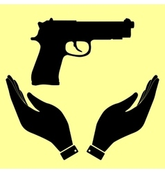 Gun sign flat style icon vector