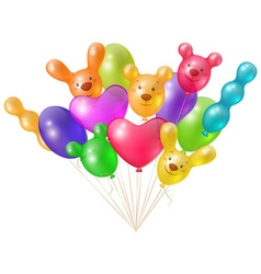 A festive bunch of bright balloons vector
