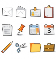 office icons fresh collection vector image