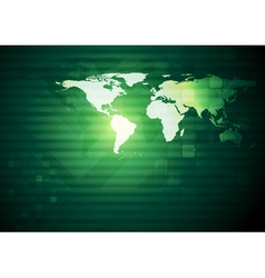 Abstract background with world map vector image