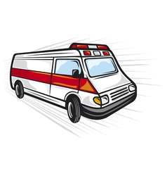 ambulance van vector image vector image