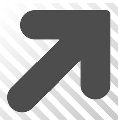 Arrow up right icon vector
