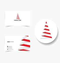 Business card with of christmas tree vector