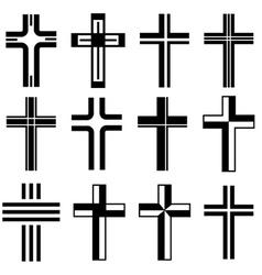 christian crosses vector image