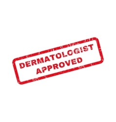 Dermatologist approved text rubber stamp vector