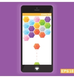 Diamond puzzle game asset for mobile devices vector image vector image