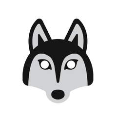 Dog husky mask vector