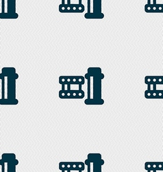 film Icon sign Seamless pattern with geometric vector image vector image