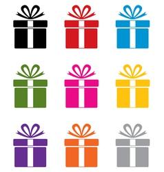 gift box symbols vector image vector image